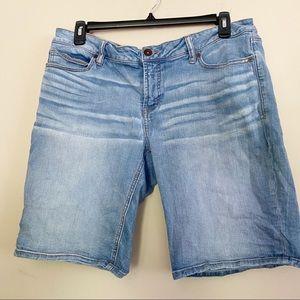 J.C. PENNEY Bermuda denim shorts light was…